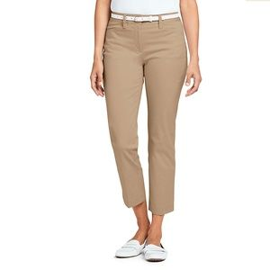 Land's End Mid Rise Straight Leg Crop Chino 10